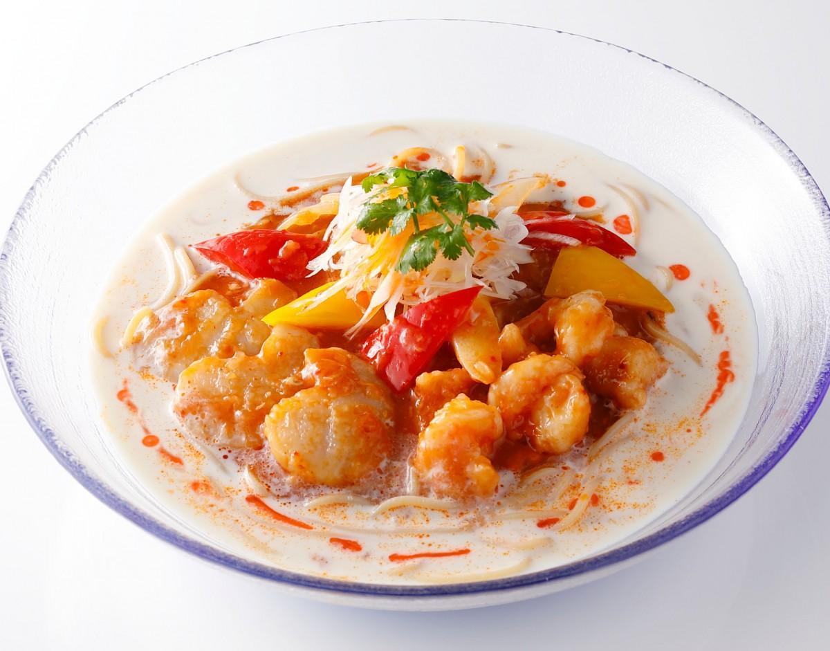 中国料理「大観苑」の「ピリ辛豆乳冷麺」