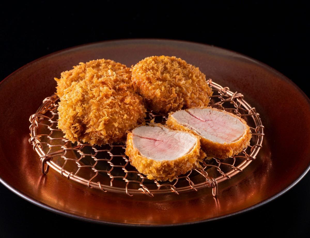 赤身で豊富な肉汁が売りの「ひれかつ」