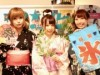赤坂のアイドルカフェが七夕に浴衣営業 スタッフも願い事を短冊につづる