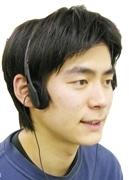 サンコーから骨伝導ヘッドフォン-耳を塞がずこめかみに