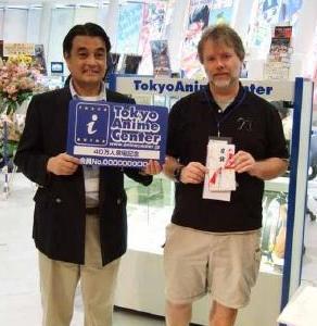 ©東京アニメセンター 2007<br> 画像は田畔事務長(左)とダーウィン・フォスターさん(右)