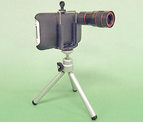 画像=iPhone3G・3GS用 望遠レンズ ブラック