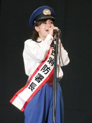 画像=神田消防署一日署長・山口ひかりさん