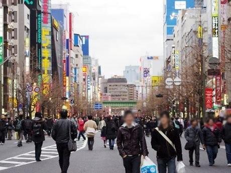 画像=秋葉原歩行者天国開催時の様子