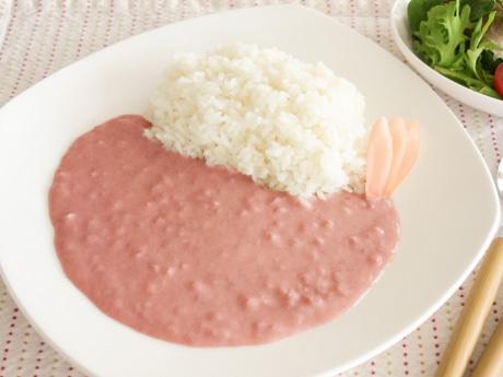 「ピンクニュージンジャーカリー」調理例