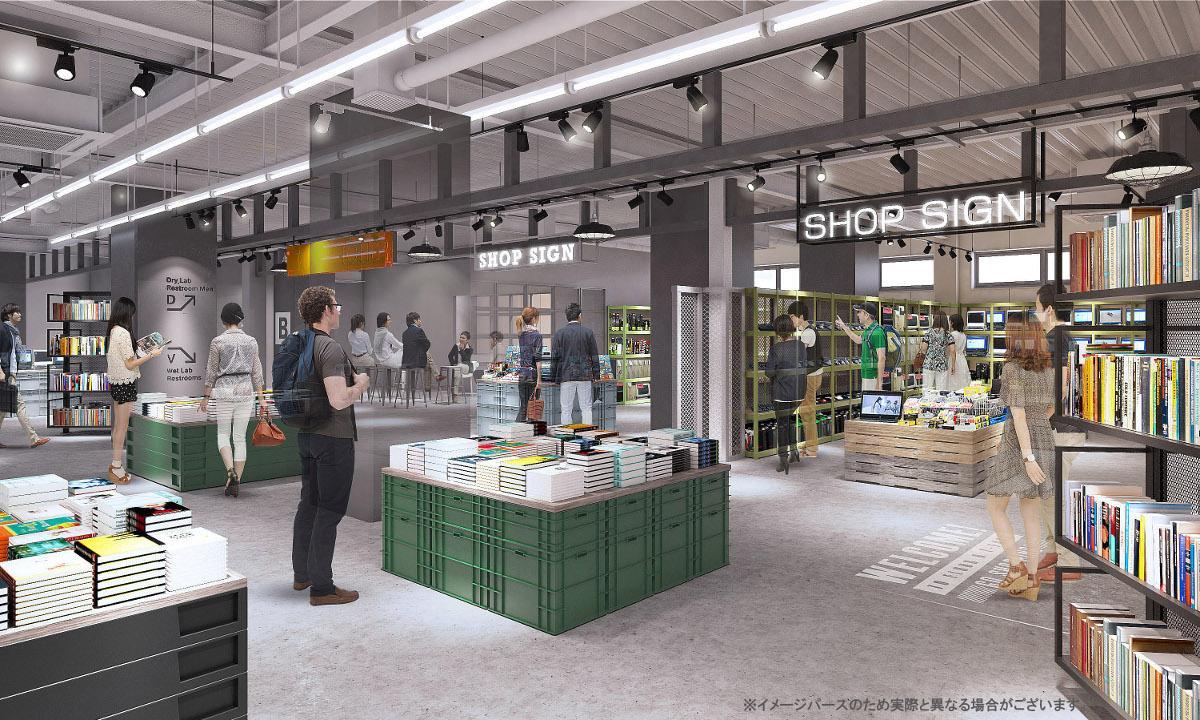 「日本の技術をテーマとした集合店舗」イメージパース
