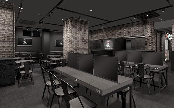 移転後の「SQUARE ENIX CAFE(スクウェア・エニックス カフェ)」店内イメージ