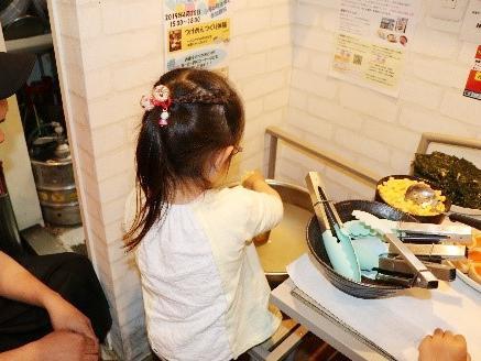 「麺屋のろし」子ども食堂職場体験イベント開催時の様子