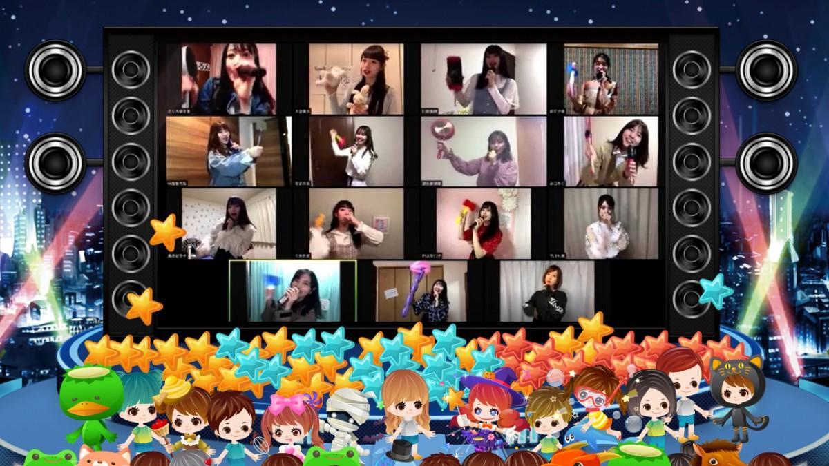 SHOWROOMでのAKB48/OUC48「おうち公演」イメージ