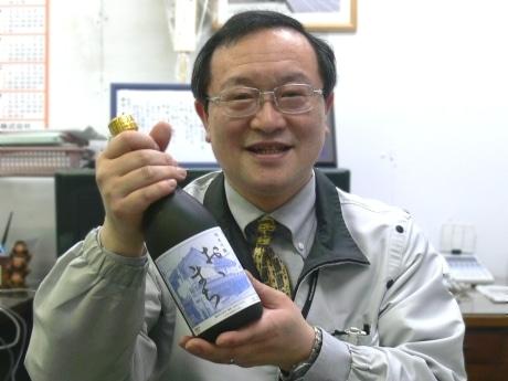 純米吟醸酒「おおまち」とヤマトの茂木社長