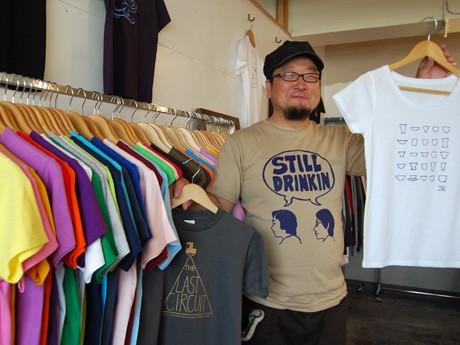 「川反Tシャツフェスティバル」を開くTシャツ専門店の京野誠さん