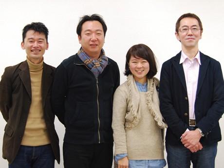 「秋田中年会議所」を立ち上げた千葉尚志さん、長谷川敦さん、笹尾千草さん、小林秀樹さん(写真左から)