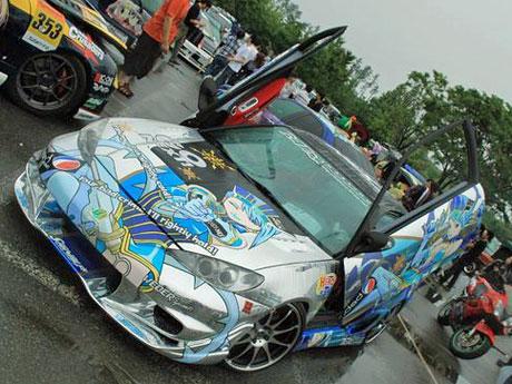 キャラクターカー・コンテスト、昨年の優勝車両 ©青森SSS はやて