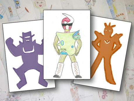 画像は「ご当地ヒーロー文化祭」を担当する相馬央さんのサンプル作品