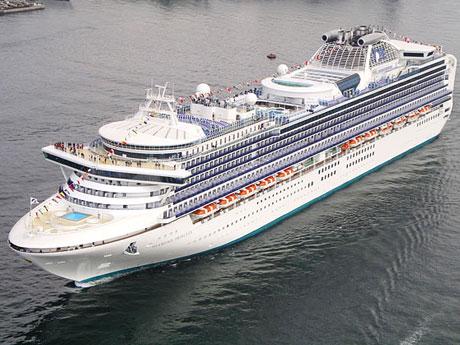 秋田港に寄港予定の大型外航クルーズ客船「ダイヤモンド・プリンセス」 ©プリンセスクルーズ