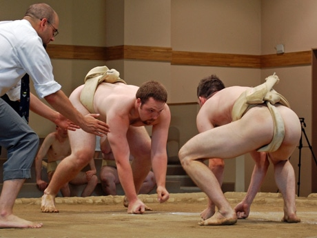 「秋田県国際相撲大会2014」の様子