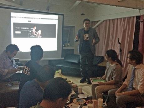 「大館・北秋田芸術祭2014」を紹介する統括ディレクターの中村政人さん