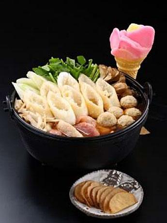 秋田名物「きりたんぽ鍋」とアイスをセット販売-県内2社が共同で