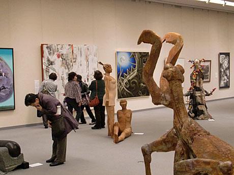 「あきたの美術2013」(昨年)の会場の様子
