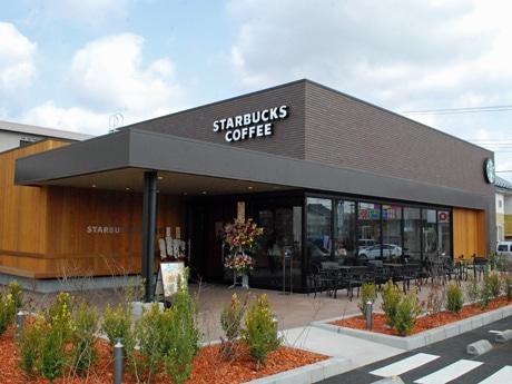 秋田県内では初めてドライブスルーを設けた「スターバックスコーヒー秋田東通店」