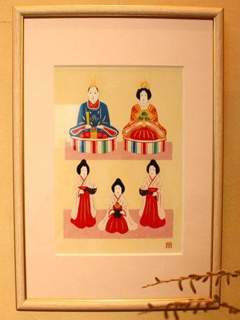 郷土人形「八橋(やばせ)人形」が題材のイラストレーター・小西由紀子さんの作品