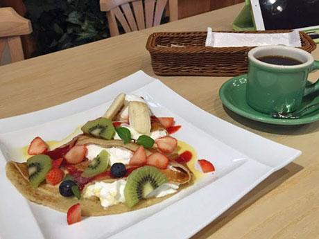 秋田市川尻にオープンした「クレープリーカフェ Mannojou(まんのじょう)」カフェメニュー