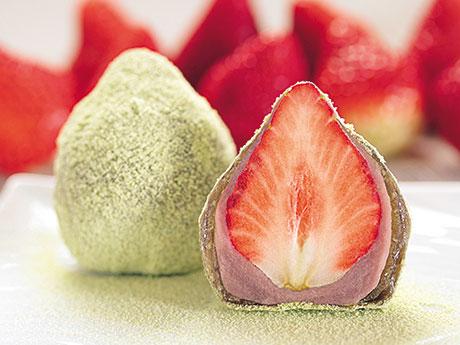 秋田の老舗和菓子店が「イチゴわらびもち」販売へ とちおとめと国産わらび粉使う