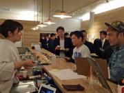 秋田市千秋公園内「日本酒バー」でフリートーク 「理想の都市公園」テーマに