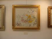 秋田で女性美術家が絵画展「イ短調」 「塗り過ぎない」作品35点