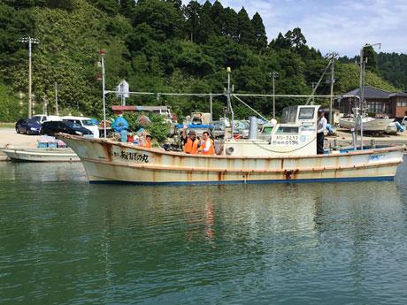 男鹿市を拠点に行う「漁業就業体験」