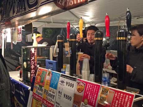 秋田市中心市街地の広場で開かれるビール祭「秋田オクトーバーフェスト」(写真は2016年)