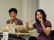 秋田で「育児とアート」トーク 美術関係者2人が体験から考察