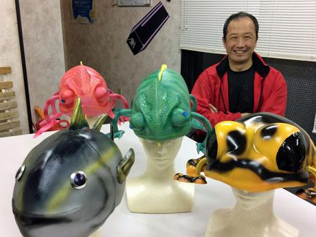 「かぶるフィギュア」をシリーズ展開する「エフツーゾーン」の海老名保社長