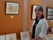 秋田で「大人の絵日記」展 絵日記教室受講者42人が作品80点