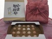 秋田で「安産祈願卵」 若鶏の初産卵、神社で祈願し販売
