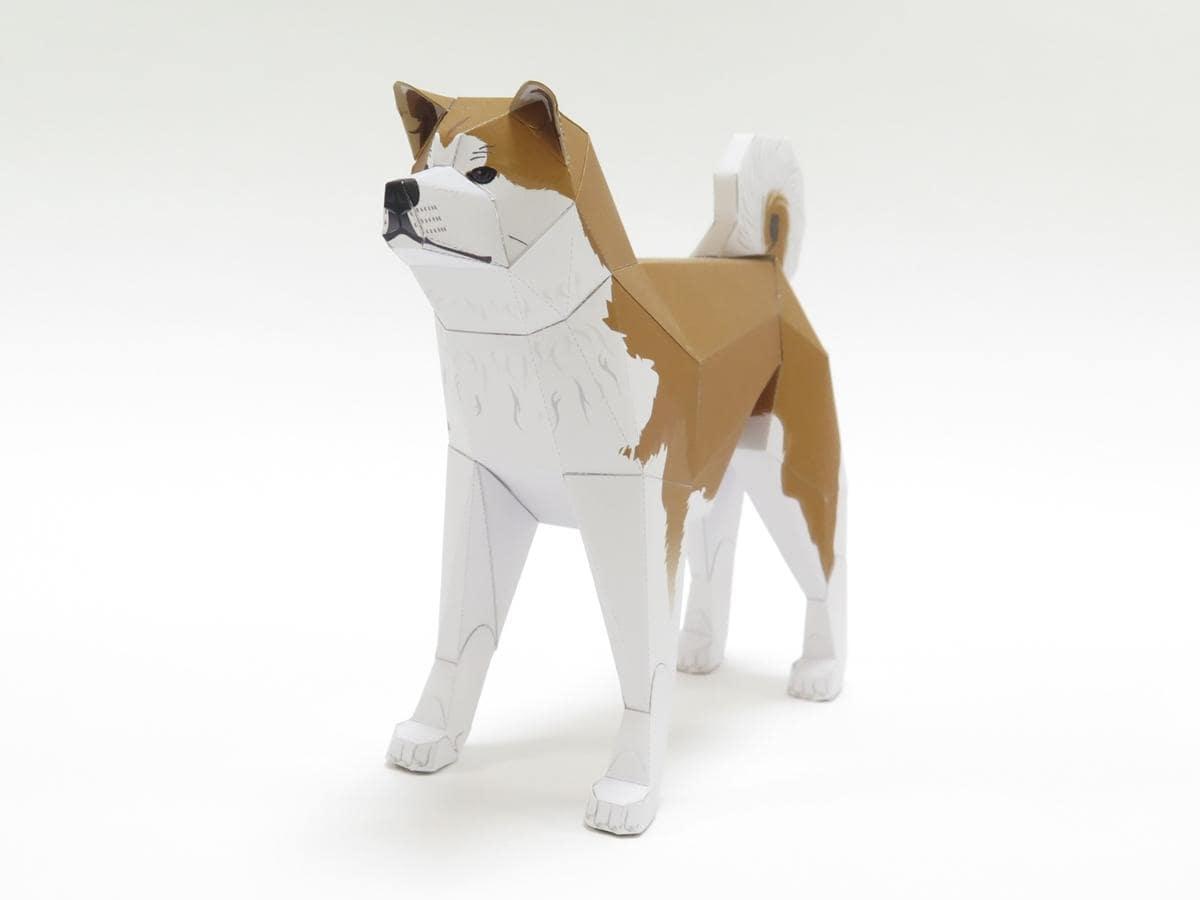 秋田県が観光プロモーション向けに用意した「秋田犬」のペーパークラフト
