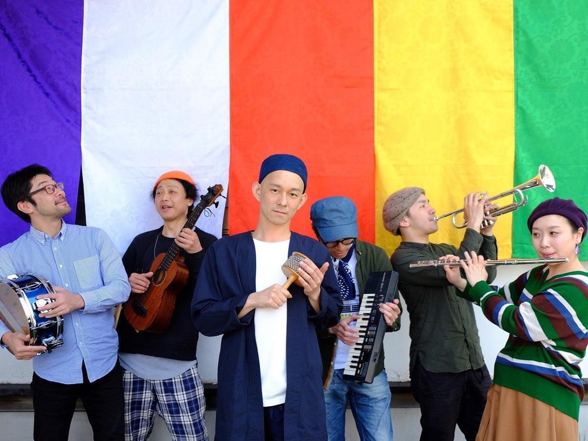 秋田県内を拠点に活動する仏教的バンド「英心 & The Meditationalies」