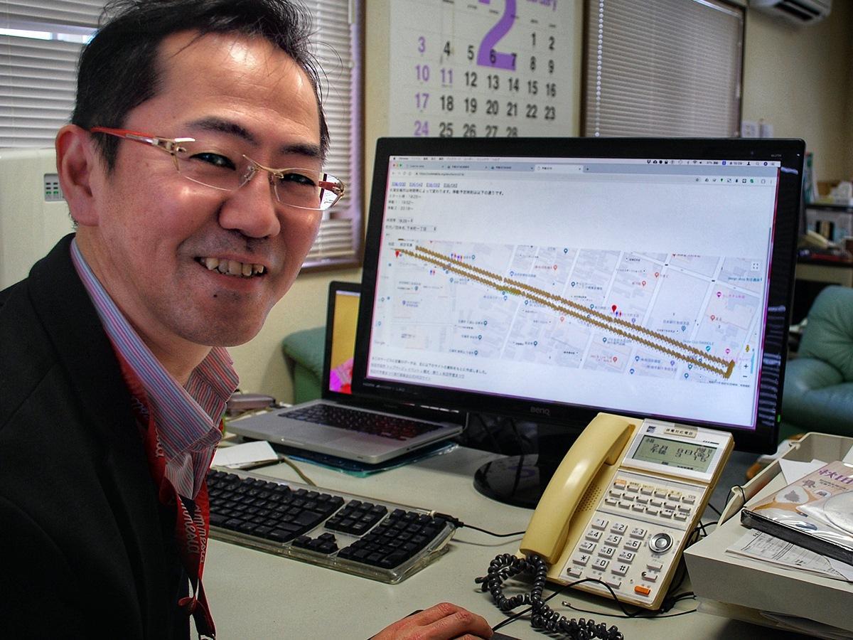 秋田市を拠点に活動する「Code for Akita(コード・フォー・アキタ)」代表の小林秀樹さん