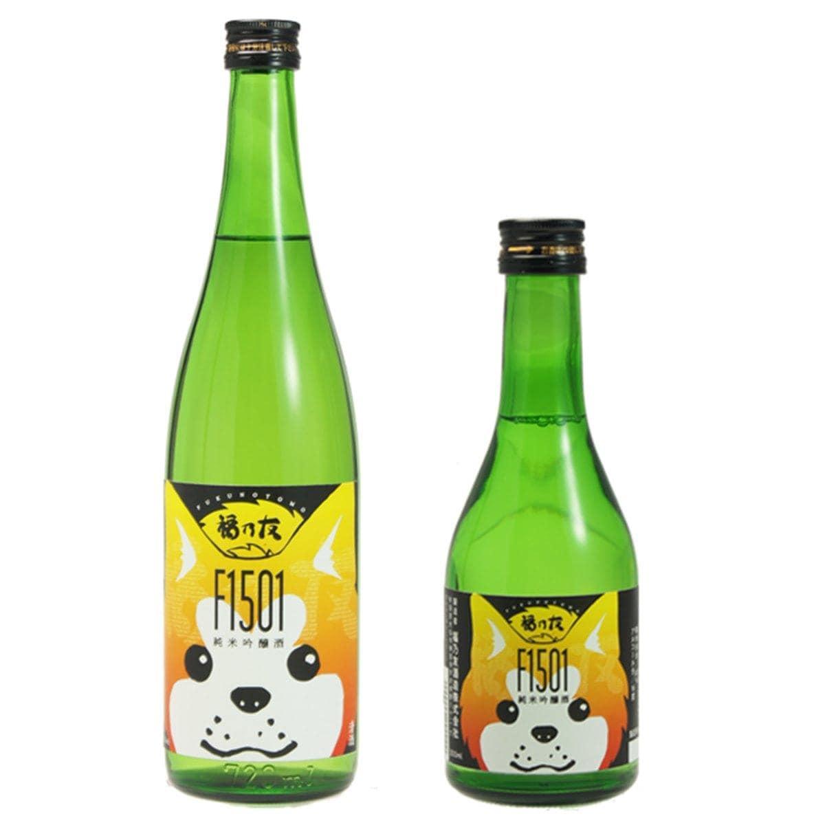 福乃友酒造(大仙市)が発売した「秋田犬ラベル」の純米吟醸酒