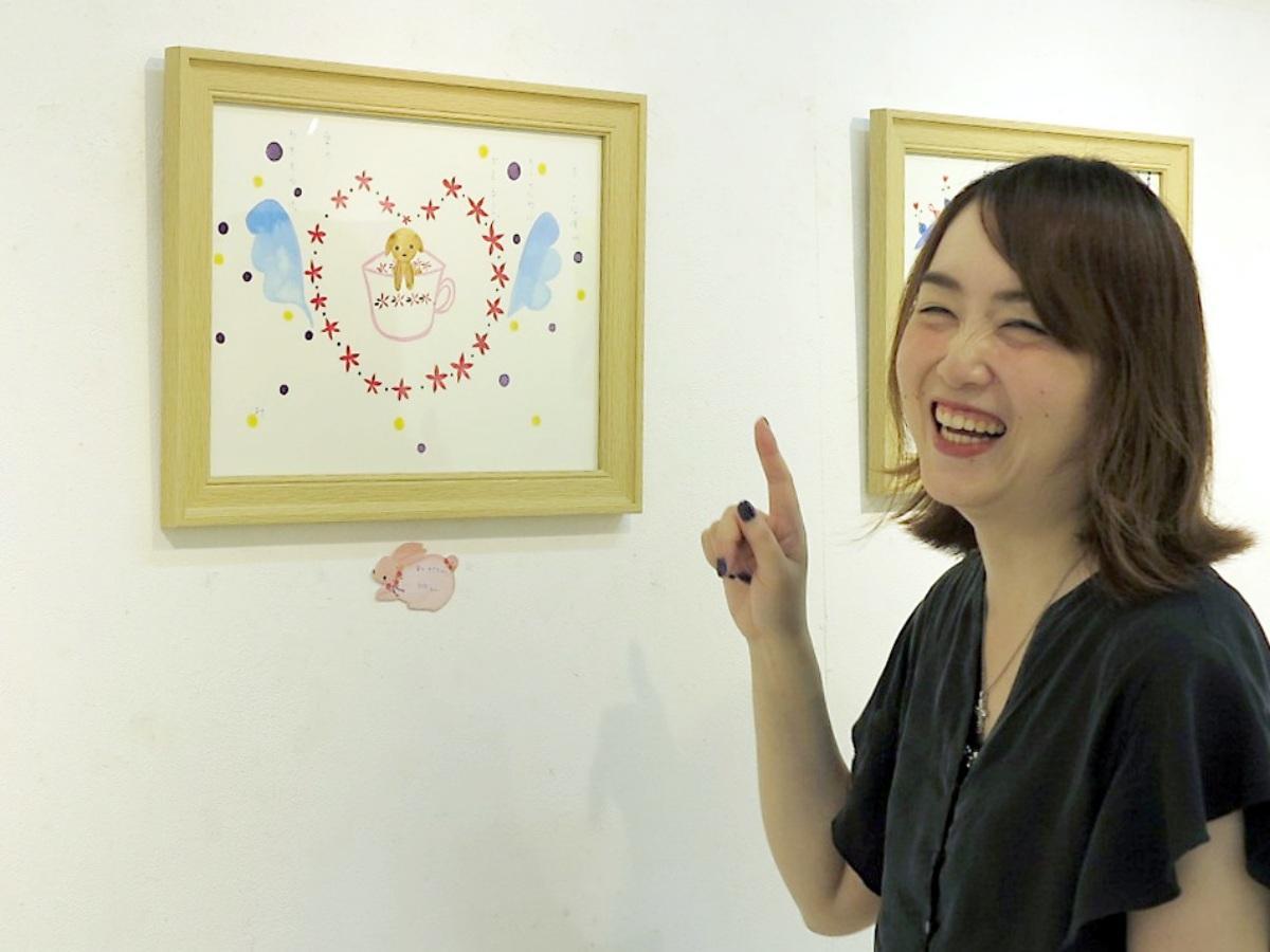 活動10周年で個展を開く絵描きで詩人の佐藤美波さん
