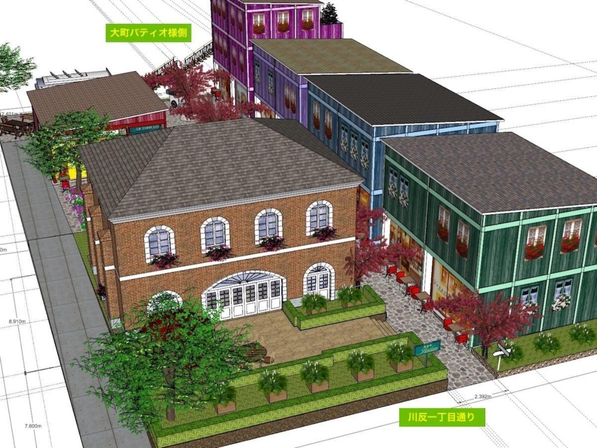 秋田市大町1丁目で計画が進む「大町街屋・横丁(仮称)」プロジェクト