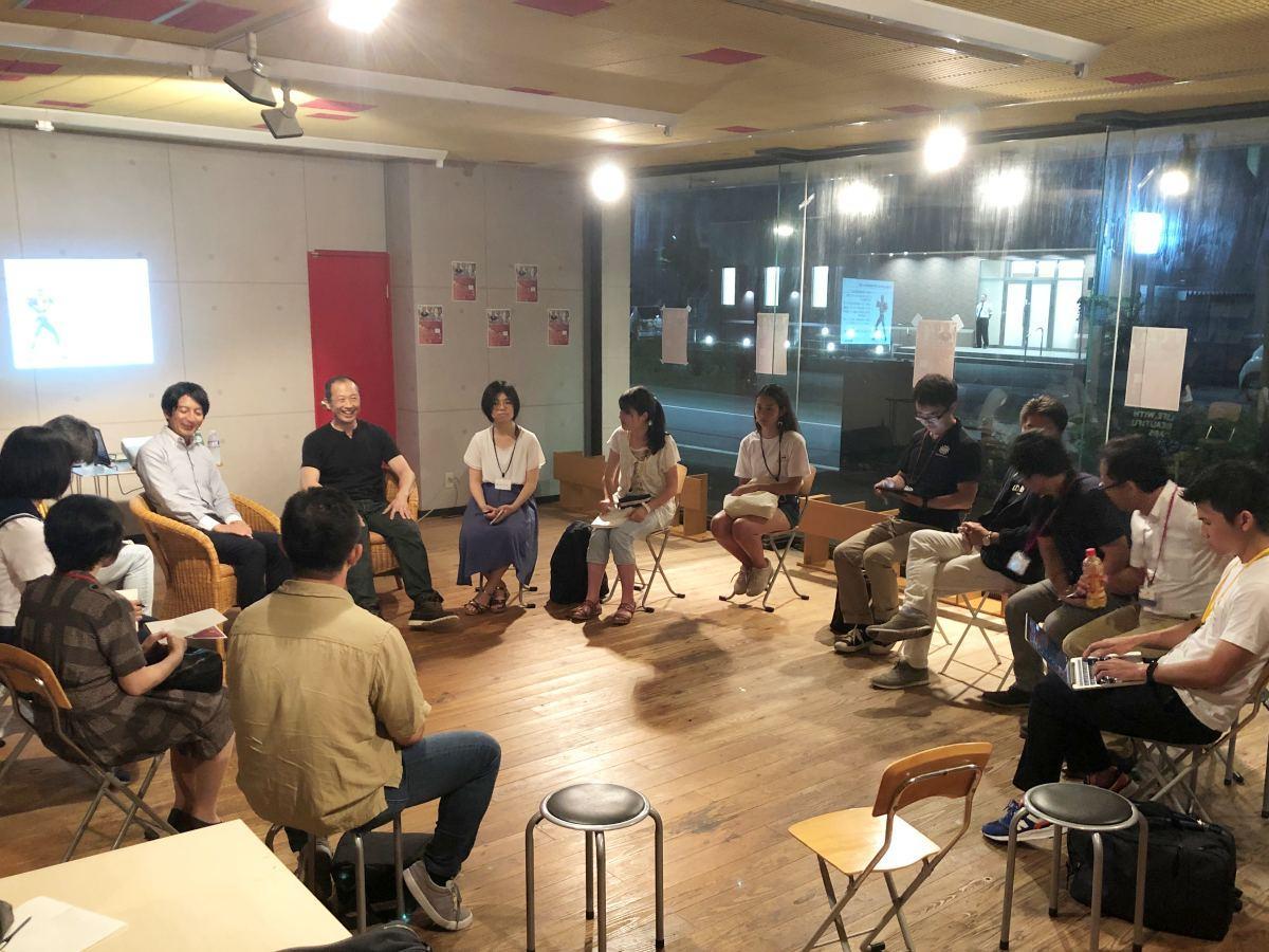 秋田県内で活躍する起業家をゲストに開く若者向けトークイベント「AETa(Akita Entrepreneurs Talk)」(写真は19回目)