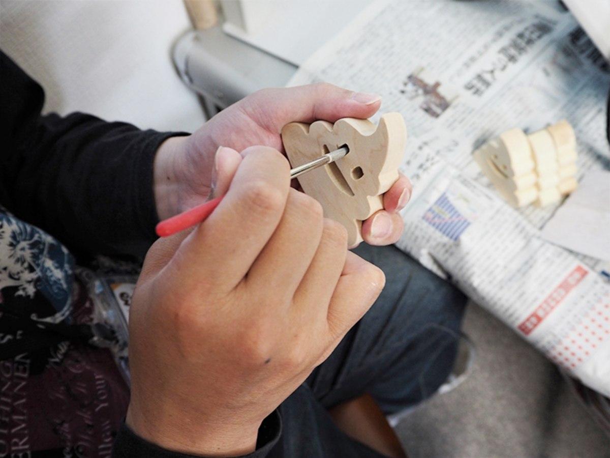 秋田市内の障がい者就労支援事業所で手作りされる雑貨