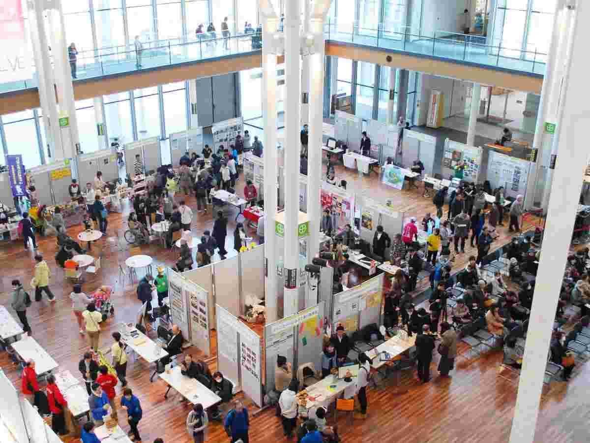 秋田拠点センターアルヴェで開かれる「市民活動フェスタ」(写真は3月)