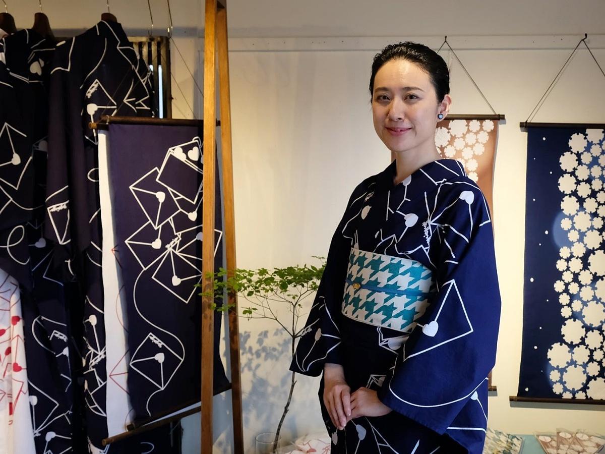 「女の子は、絶対無敵」をコンセプトにオリジナル浴衣を展開する沼倉弥生さん