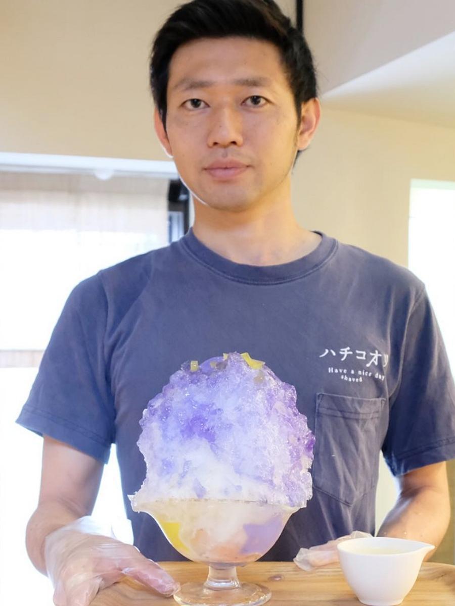 秋田市大町のかき氷専門店が期間限定で提供する「七夕コオリ」