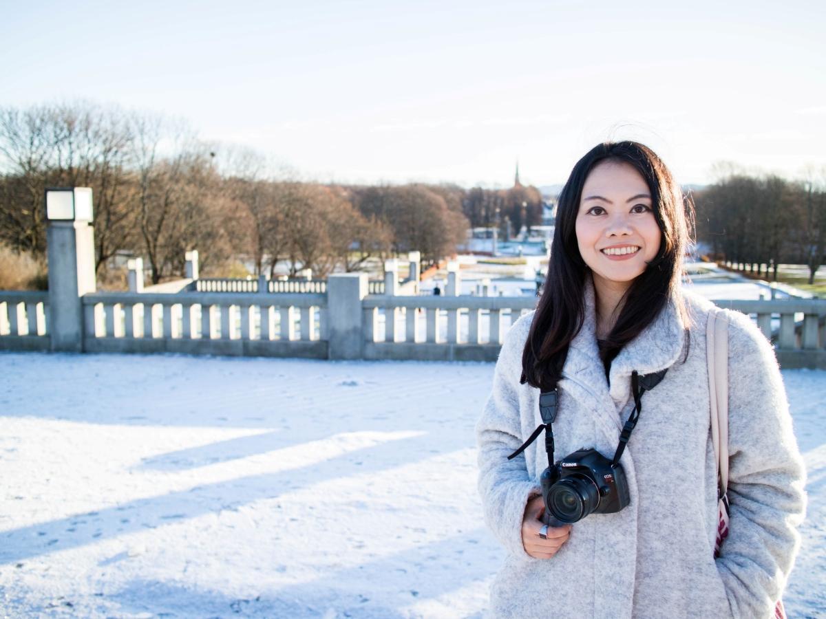 ノルウェー在住のジャーナリストで写真家のあぶみあさきさん。秋田市出身