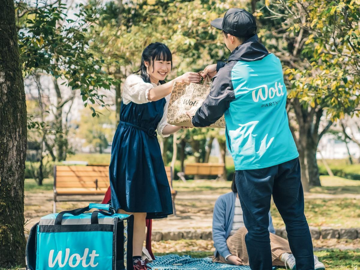 フードデリバリーサービス「Wolt(ウォルト)」の利用イメージ