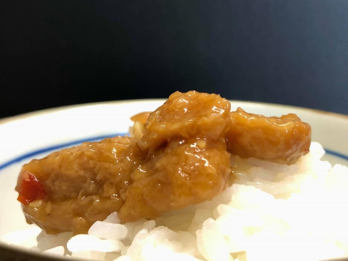 焼き肉向け調味料を使う大豆加工食品「源たれ飯泥棒」