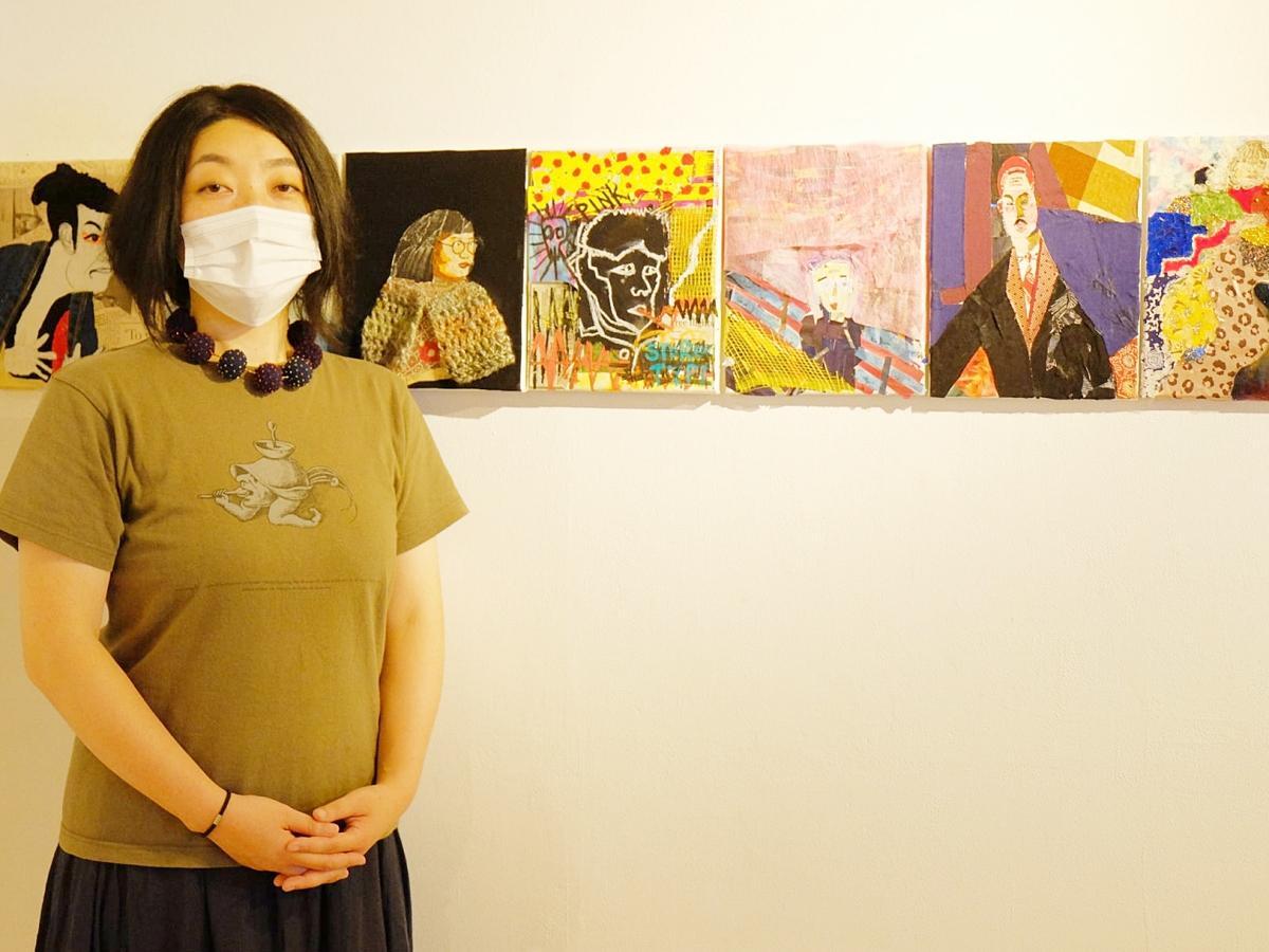 2年ぶりの作品展を開く美術教室主宰の池田聖子さん